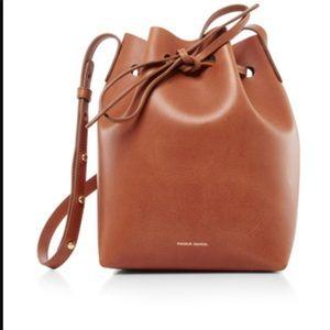 Mansur Gabriel Large Bucket Bag Tan/Brown